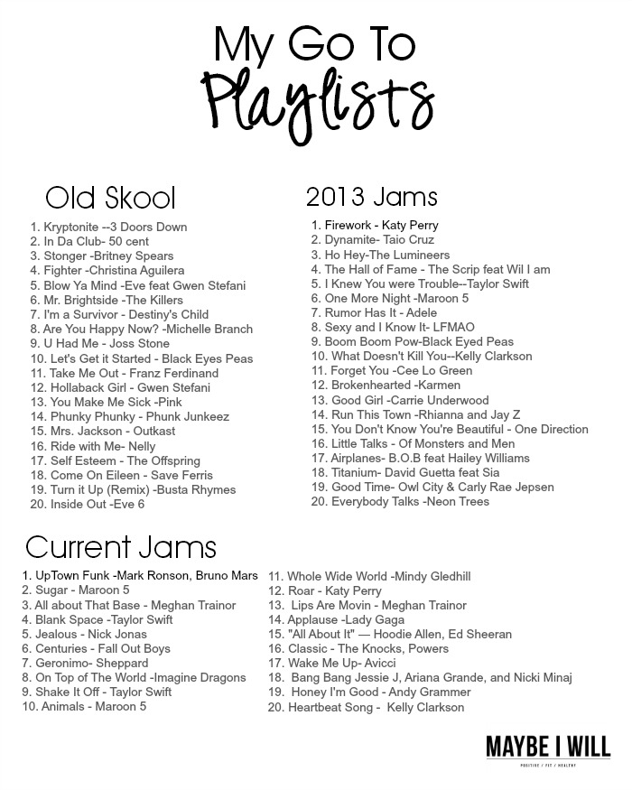 The Ultimate Printable Running Playlist