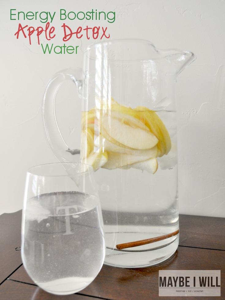 Energy Boosting Apple Detox Water