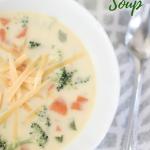 Cheesy Velveeta Broccoli Soup