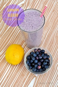 Lemon Blueberry Protein Shake