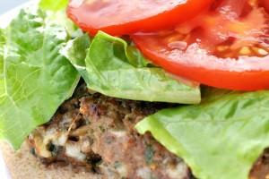Spinach-Mozzarella-Burgers