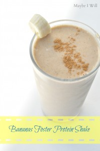 Bananas Foster Protein Shake