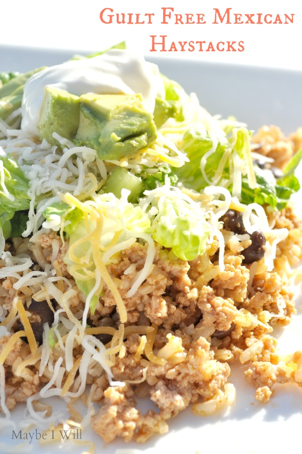 Easy Meal Prep Recipe for Guilt Free Mexican Haystacks