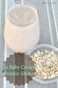 Chocolate No Bake Cookie Protein Shake
