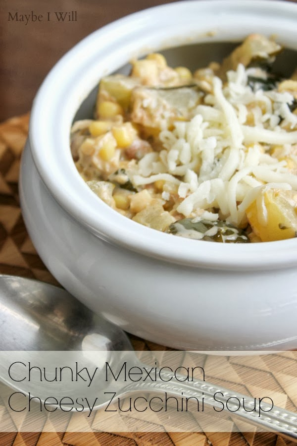 Chunky Mexican Cheesy Zucchini Soup