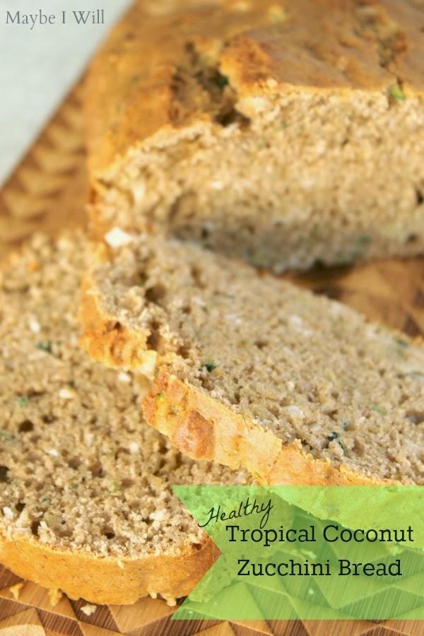 Healthy Tropical Coconut Zucchini Bread