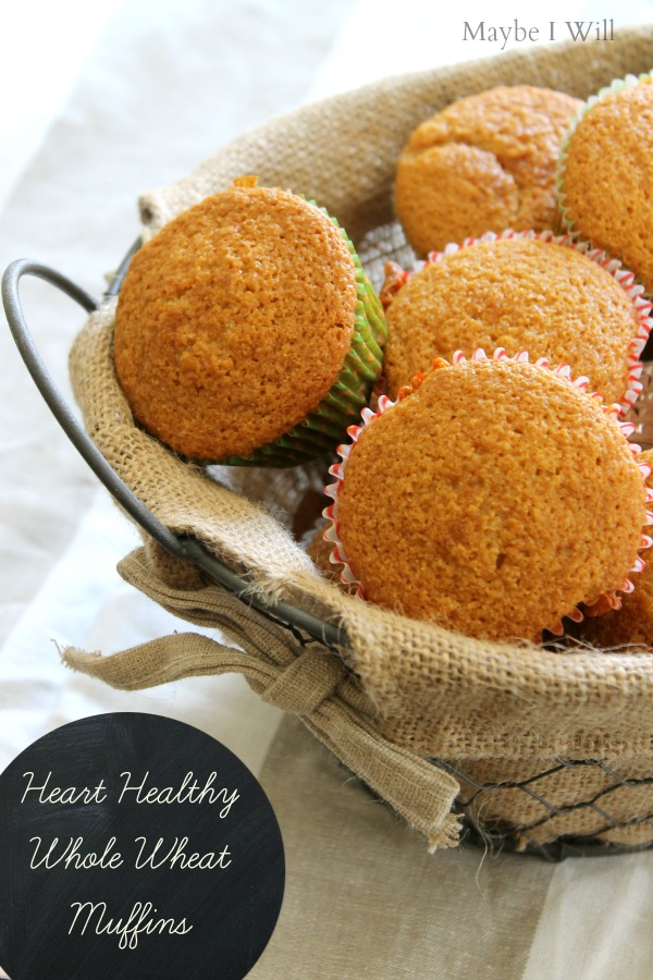 Heart Healthy Whole Wheat Muffins