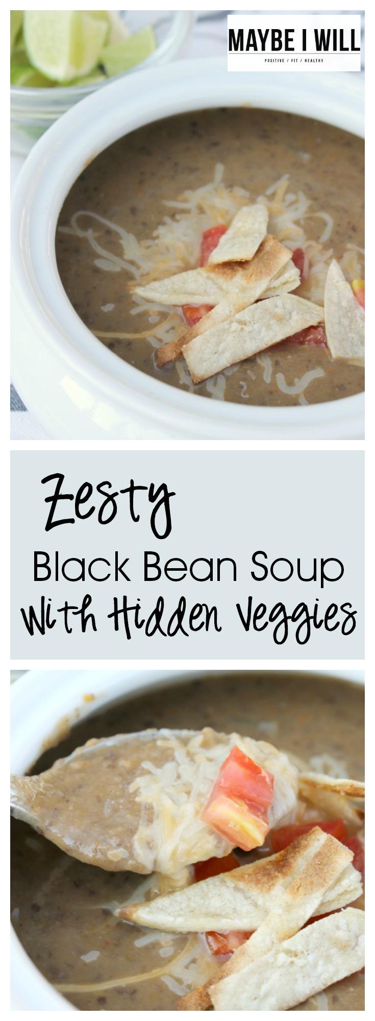 Zesty Black Bean Soup Pin