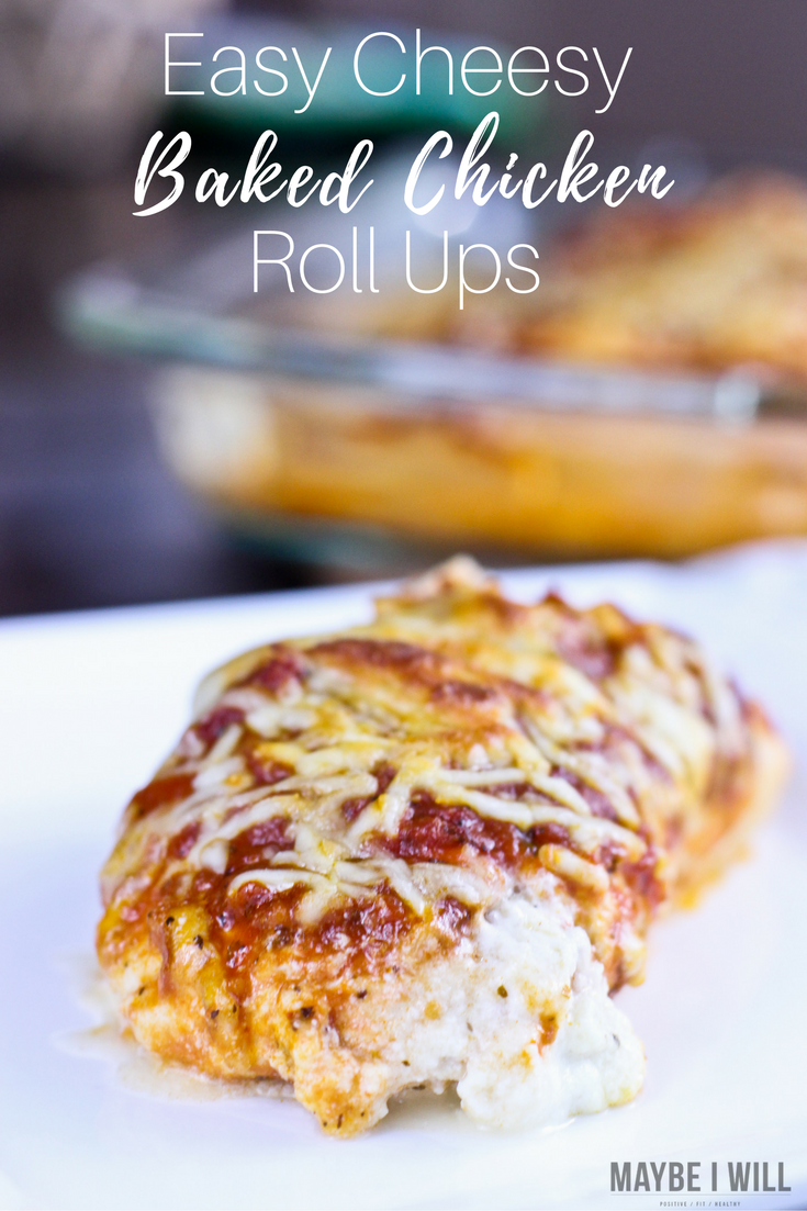 Cheesy Baked Chicken Roll-Ups - A super simple and easy dinner to get on the table in a hurry with only 5 ingredients it is sure to be a family favorite!