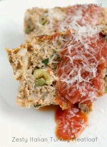 Zesty Turkey Italian Meatloaf