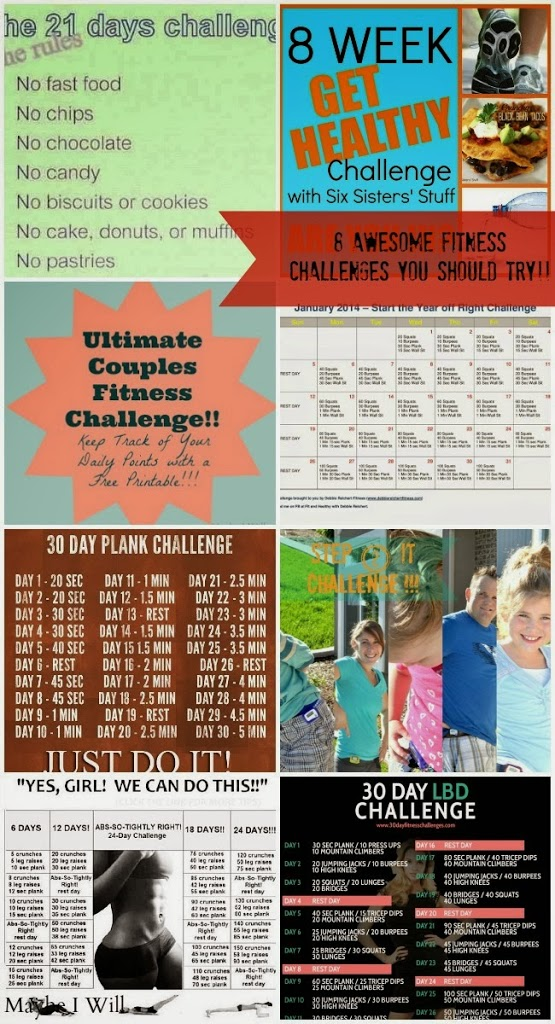 8 Challenges To Try... To Help Kick OFF - A Healthier 2014 #healthy #fitness #challenges {www.maybeiwill.com}