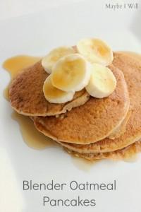 Blender Oatmeal Pancakes