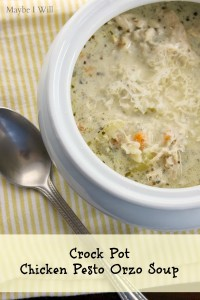 Crock Pot Chicken Pesto Orzo Soup