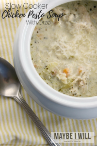 Slow Cooker Chicken Pesto Soup