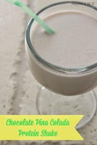 Chocolate Pina Colada Protein Shake.