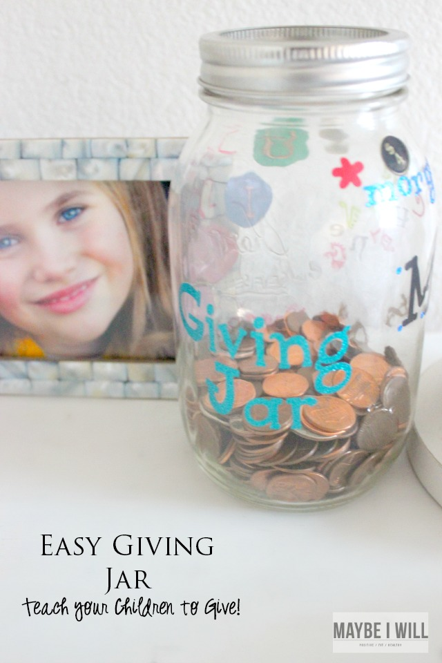 Directions for cutting Vinyl with a Cricut! Make this easy DIY Giving Jar!! Step by Step Directions!