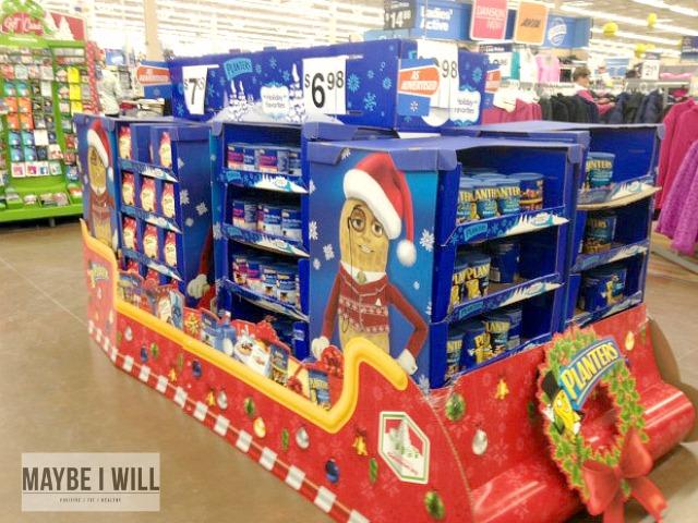Planters Holiday Display at Walmart