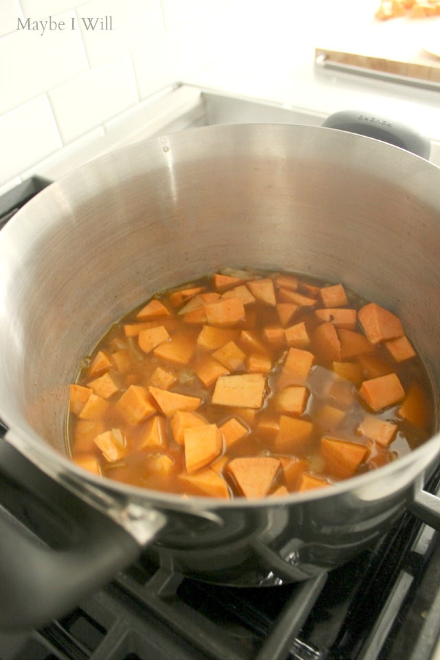 Boil Sweet Potatoes for Chili