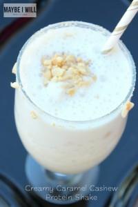 Creamy Caramel Cashew Protein Shake
