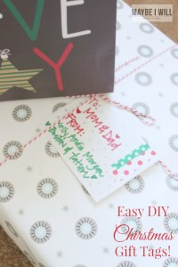 Make your gifts memorable with these EASY personalized Christmas gift tags!