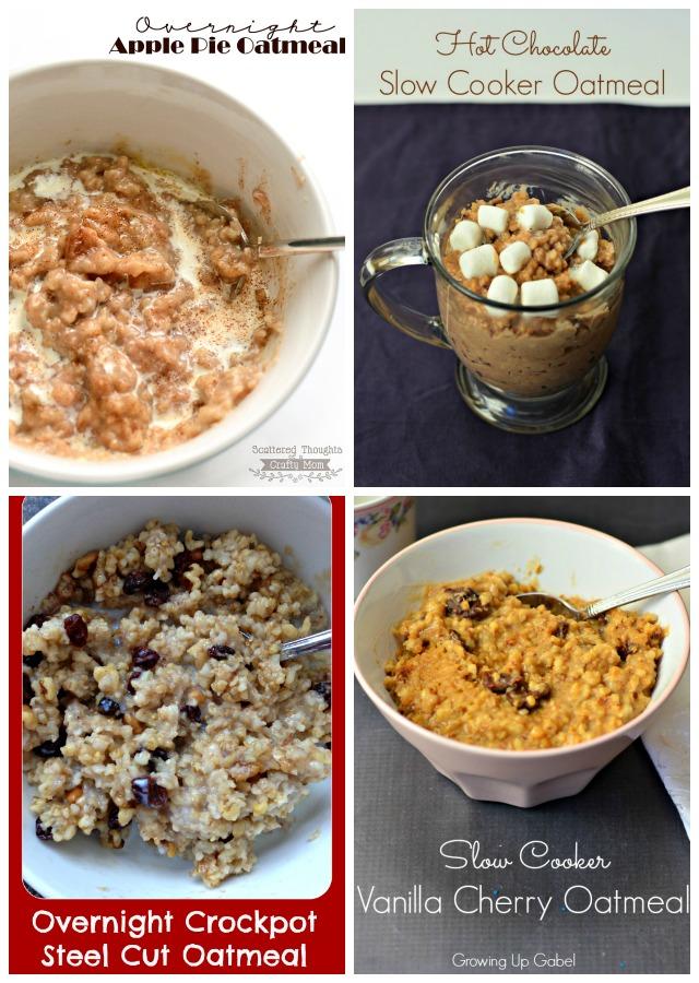 4 Slow Cooker Oatmeal Recipes