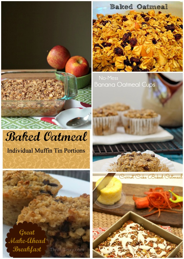 5 Delicious Baked Oatmeal
