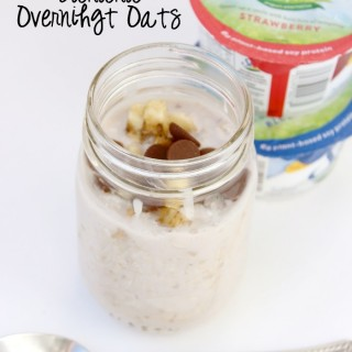 Such a quick and easy breakfast! To eat on the go!
