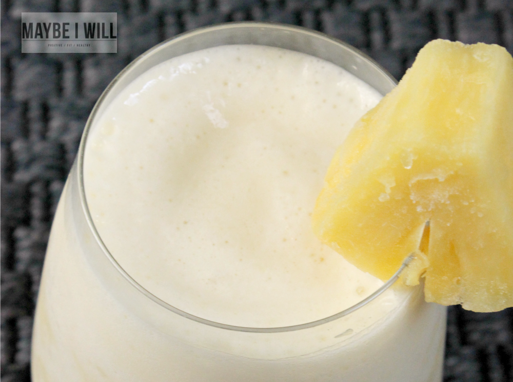 Dole Whip Inspired Protein Shake