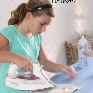 How to teach your tween to iron