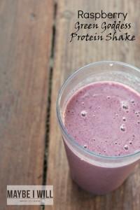 Raspberry Green Goddess Protein Shake
