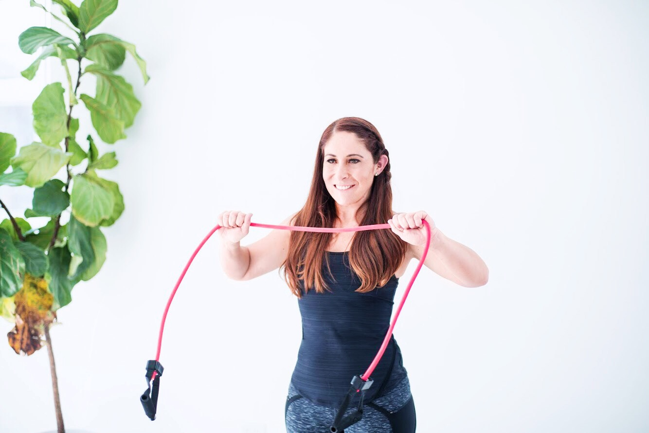 Resistance Band Pulls for Chest