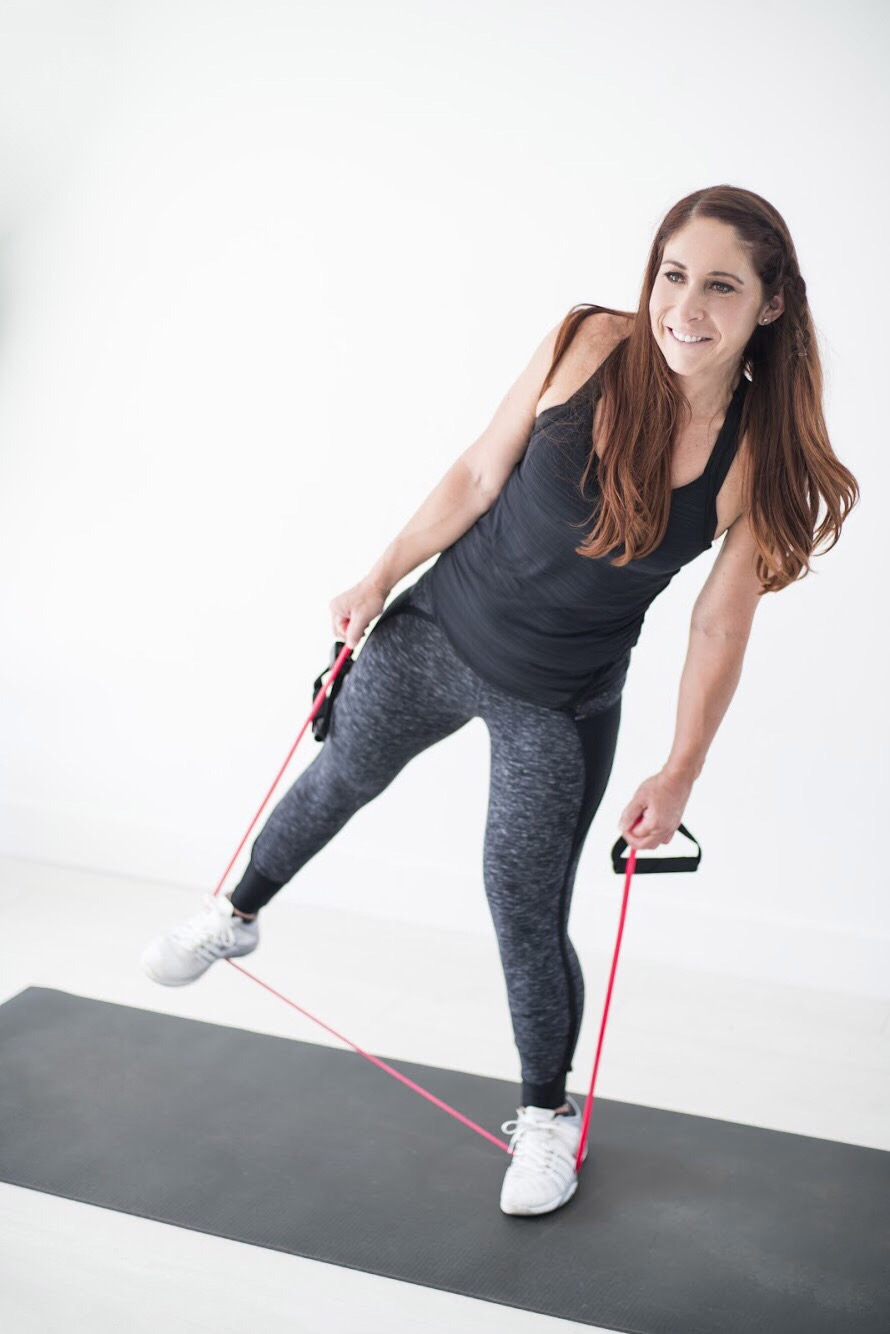 Side Leg Raise With Resistance Band