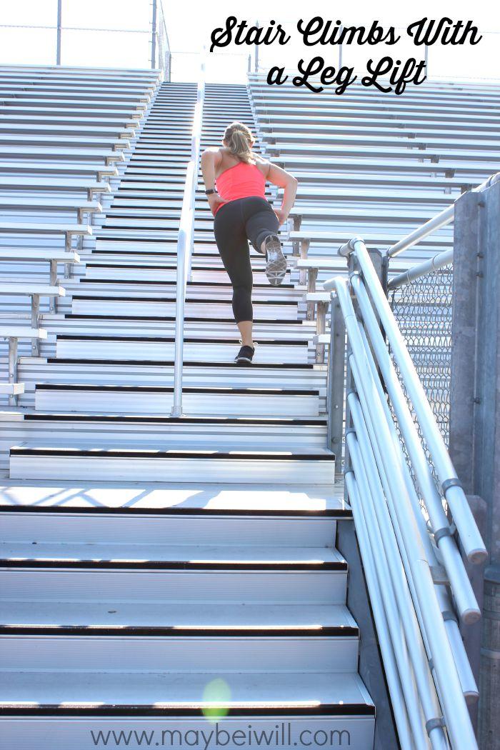 Stair Climb With A Leg Lift