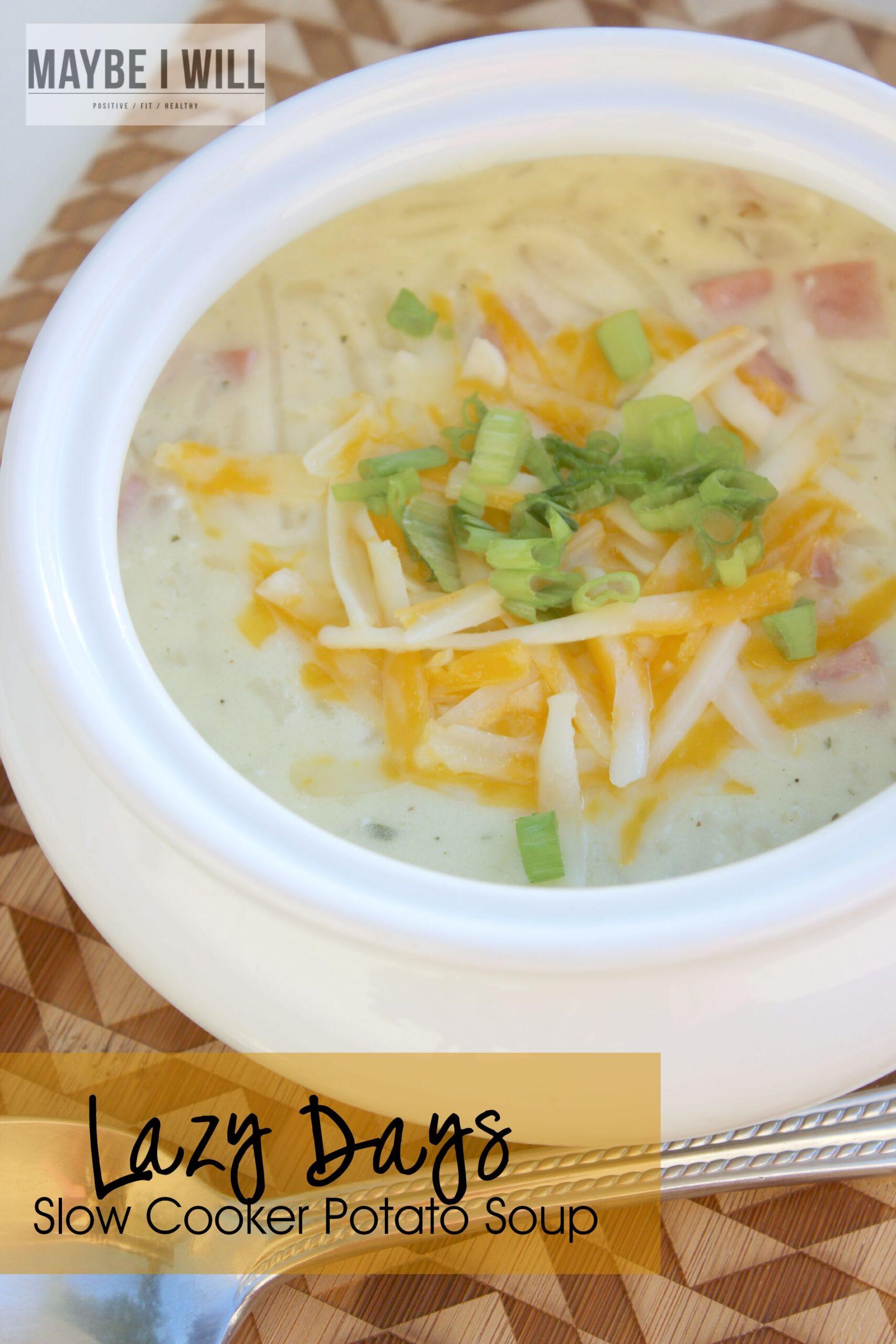 Lazy Days Slow Cooker Potato Soup
