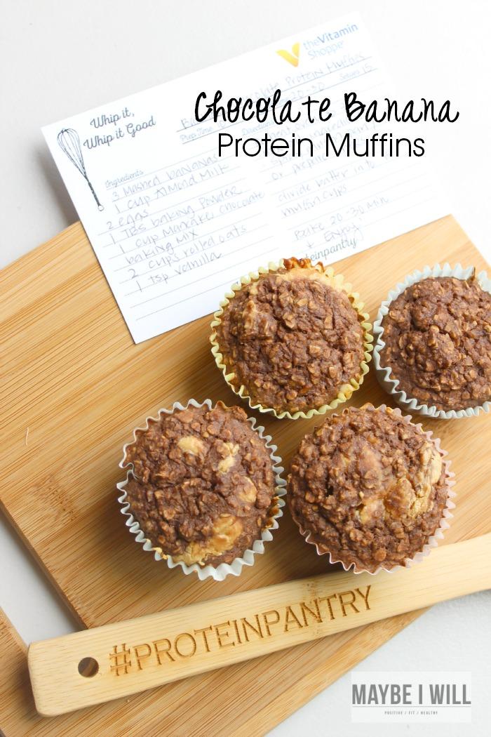 Banana Chocolate Protein Muffins!