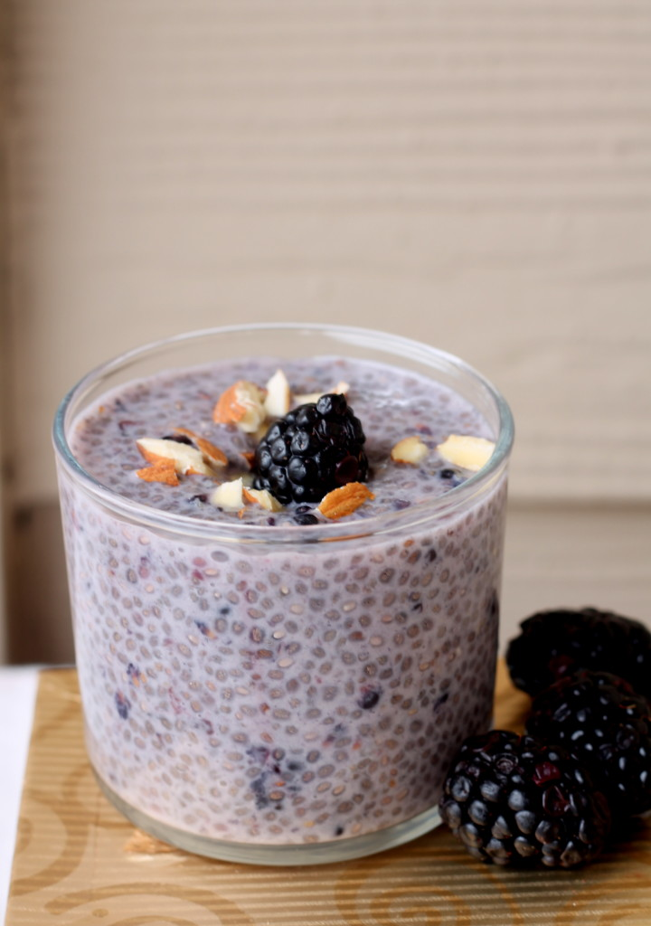 blackberry-almond-chia-pudding- Food Pleasure and Health