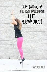 20 Minute Jumping HITT Work Out!
