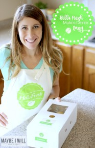 The Easy Button for Dinner! Hello Fresh is a great way to make the most out of dinner #LiveFresh #HelloFreshPics