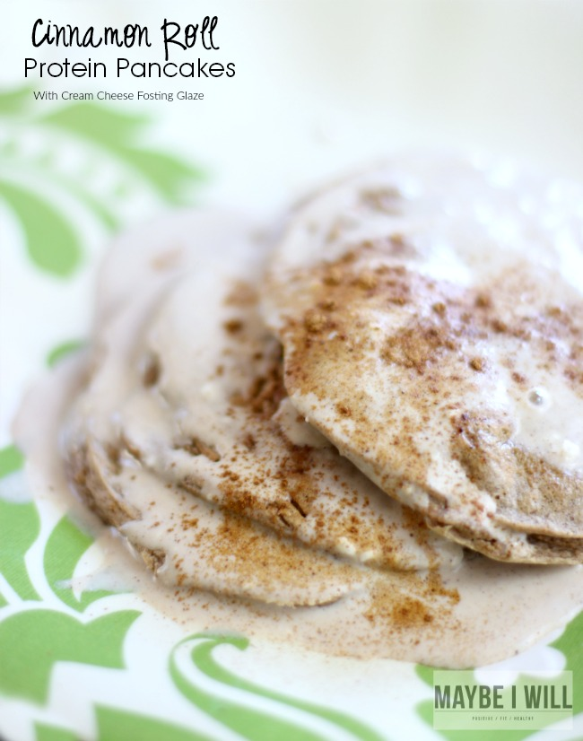 Cinnamon Roll Protein Pancakes