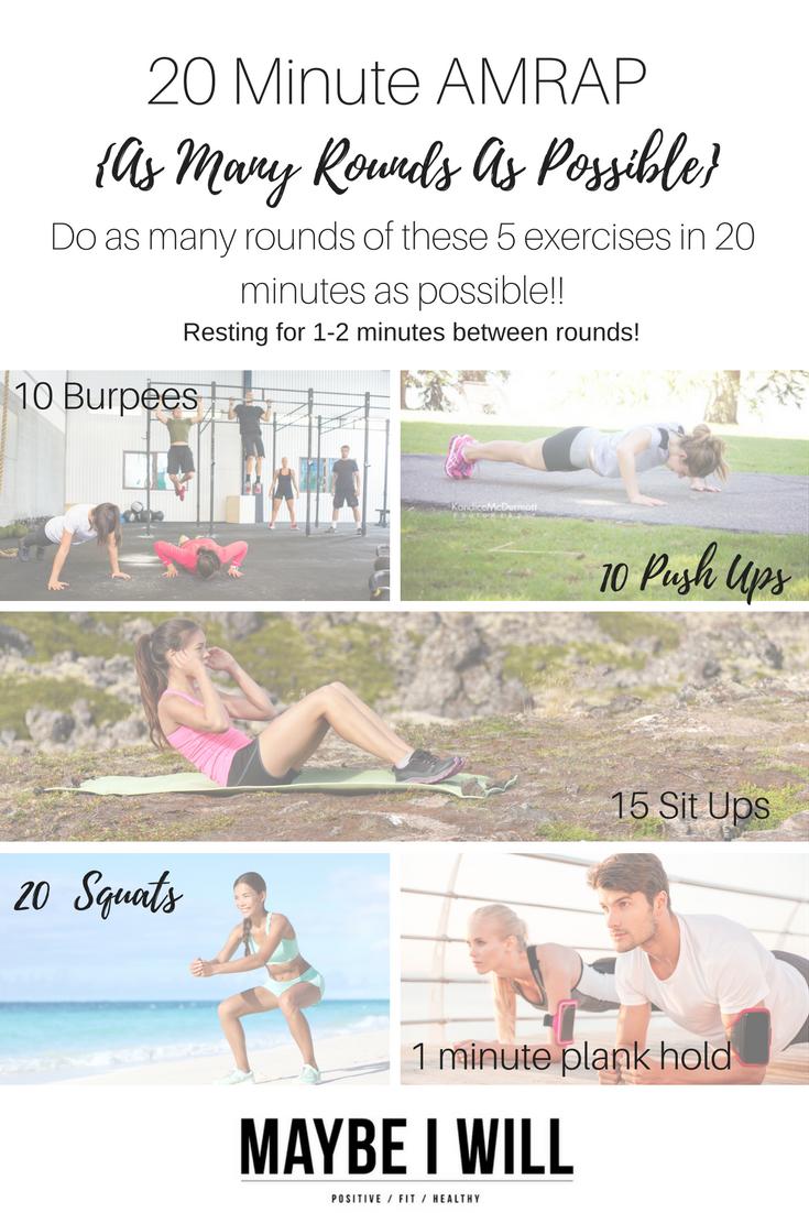 20 Minute AMRAP Workout