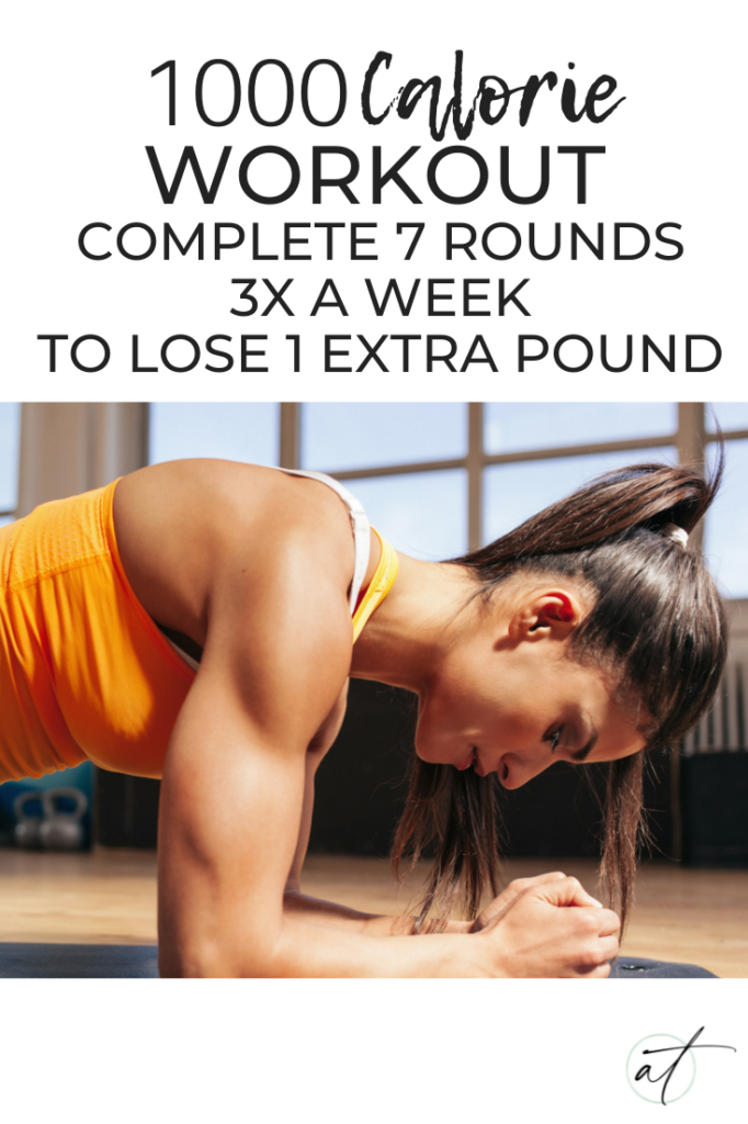 1000 Calorie Workout, a workout based on 7 rounds of simple exercises to help you lose an extra lb every week.