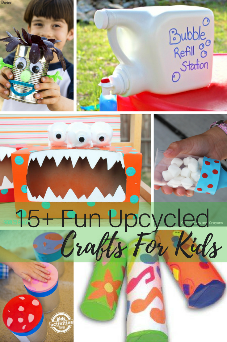 15 Fun Upcycled Crafts For Kids
