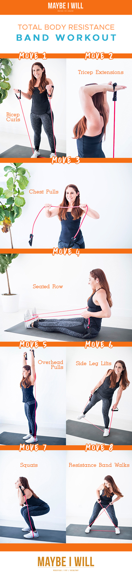 BAND WORKOUT 2000PX - TOTAL BODY RESISTANCE BAND WORKOUT