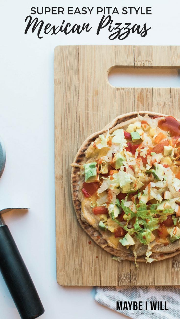 Super Easy Pita Style Mexican Pizza