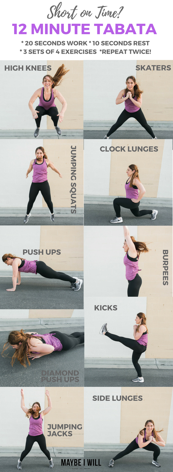 Short on Time – 12 Minute Tabata!