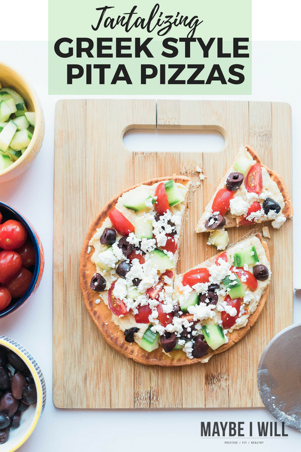 With all your favorite savory Greek flavors this quick and easy greek style pita pizza will not disappoint! It is the perfect throw together dinner!