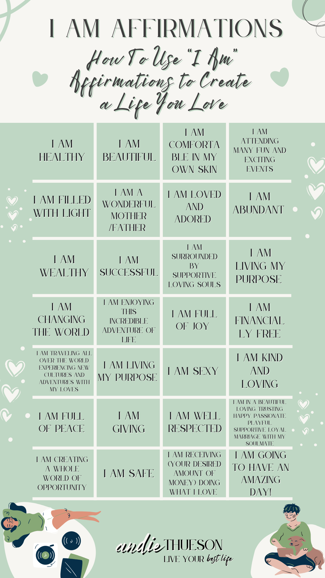 I am affirmations, are an essential tool when manifesting your new life.