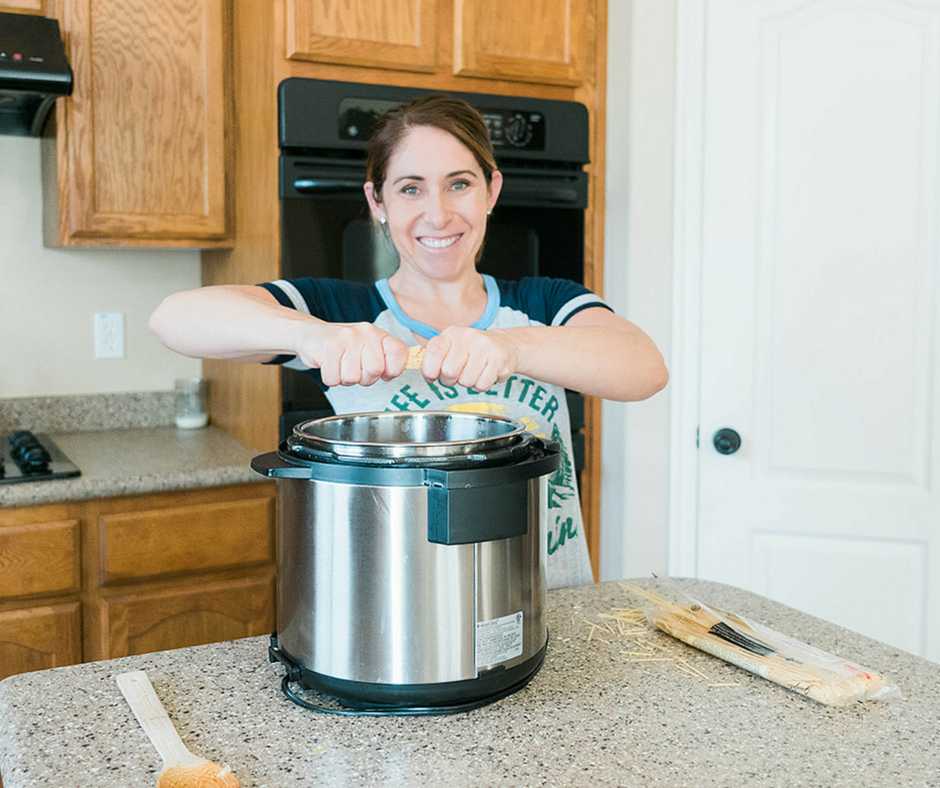 For those nights when you need dinner on the table fast this Easy Instant Pot Vegetarian Spaghetti and Meatballs is about the easiest throw together dinner there is!