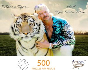 500 Piece Puzzle of Joe Exotic of the Tiger King Fame