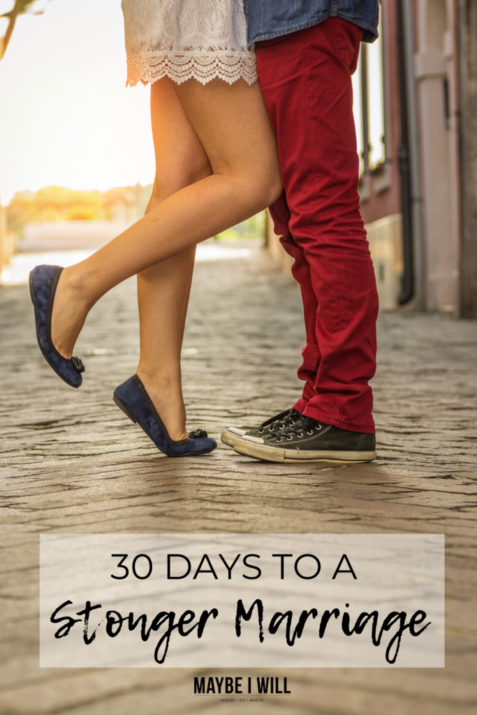 With so many things pulling your marriage apart, this 30-day challenge is designed to help you create a stronger marriage.